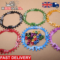 UK 6Colors 30t 104bcd Narrow Wide MTB Bike BMX Sprockets Chainset Chainring Bolt