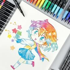Dual Head Markers Pen Watercolor Brush Set Fine Tip Painting Art Brushes