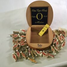 New ListingOliva Ovation Curved Cigar Box Filled With Vintage Cigar Bands
