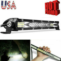 10inch Slim LED Work Light Bar Spot Flood Combo Offroad Fog SUV ATV Truck 4WD US