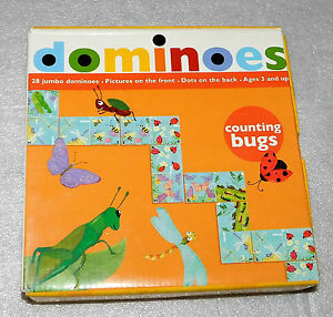Mudpuppy Counting Bugs 28 Jumbo Dominoes Pictures Dots Ages 3+ Educational