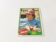 1981 Topps Pete Rose Philadelphia Phillies #180 Baseball Card Set Break