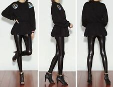 Faux Leather Leggings Stretch Pants for Women