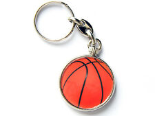 BASKETBALL Sport Quality Chrome Keyring Picture Both Sides
