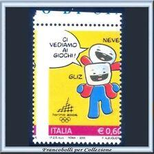 2005 Italia Repubblica Varietà Olimpiadi Torino 2006 Neve Gliz  Nuovo **