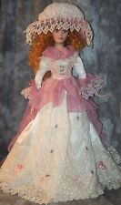 "rM- COLLECTIBLE DOLL PERCELAIN TYPE 31"" TALL FULL COSTUME NUMBERED BY DUCK HOUSE"