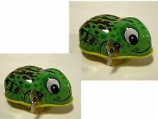 2 x 1980's Toy clock work Mechanical wind up Frogs
