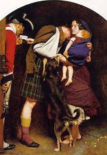 Oil painting John Everett Millais - amnesty order in 1764 Family reunion & dog