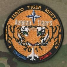 NTM NATO TIGER MEET burdock PATCH COLLECTIONS: 2011 Aegean Tigers CAMBRAI FRANCE