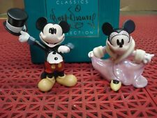 Wdcc 1228707 Disney Mickey's Gala Premier Mickey and Minnie Figurines New