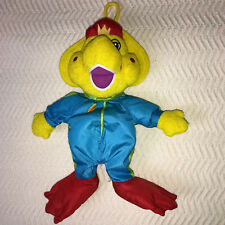 "Barney and Friends BJ The Dinosaur Yellow Bathtime 12"" Floppy Stuffed Animal Toy"