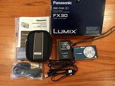 Panasonic Lumix DMC-FX30  Blue Digital Camera with accessory