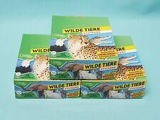 National Geographic Topps Wilde Tiere Animals Sticker 3 x Display / 90 Tüten