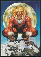 1992 Marvel Masterpieces Trading Card #78 Sabretooth