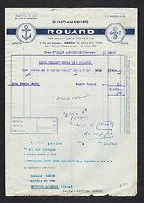 "MARSEILLE (13) SAVONNERIE / SAVON Ancre Helice ""ROUARD"" en 1954"