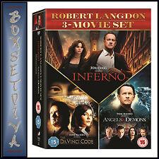 THE DA VINCI CODE/ANGELS AND DEMONS/INFERNO - 3 MOVIE BOXSET*** BRAND NEW DVD***