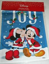 "DISNEY Holiday Flag MICKEY & MINNIE JOY 12.5"" X 18"""