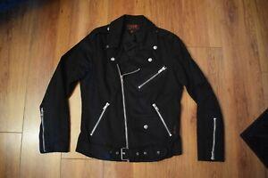 Tripp NYC Mens Biker Jacket Black S Small Motorcycle Goth Punk Moto Vintage