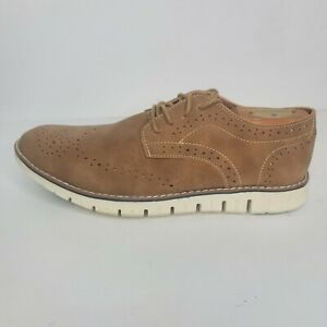 Mens Shoes Platini Size 7.5 New Casual Dress Brown Suade