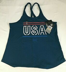 $30 Under Armour 1327578-437 Women's Freedom USA Crossover Tank Top, SM/CH, NWT
