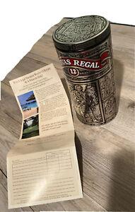 Vintage Chivas Regal 12 Year Scotch Whisky Collectible Empty Metal Tin Barware
