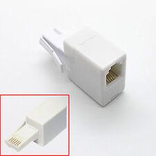 BT Teléfono Enchufe de Reino Unido a RJ11 Zócalo Adaptador Adaptador Conector Cable Recto 6P4C
