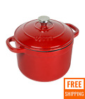 Lodge Enameled Cast Iron 5.5 Quart Dutch Oven, in Red