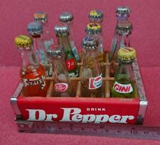12 Sealed Vintage Miniature Dr Pepper Coke Fanta 7UP Orange Crush + others.