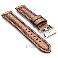 StrapsCo Carbon Fiber Mens Padded Watch Band Strap fits Breitling
