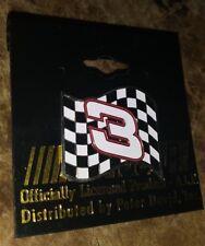 DALE EARNHARDT SR #3 NASCAR LEGEND BLK/WHT RACING FLAG PETER DAVID PIN RARE QTY!