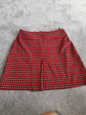 Ropa señoras Mini falda tartán Miss Selfridge talla 10