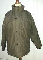 "Cedarwood State Size Medium M Brown Padded Jacket Coat Zip Popper 44"" Winter"