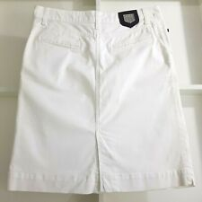 GANT Summer White Cotton Pencil Skirt UK 10 EU 38 Pockets Stretch rrp £115