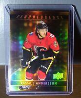 2017 Rasmus Andersson Upper Deck Fluorescence F-32 Hockey Card - #019/150