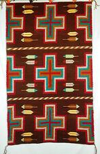 "Classic Navajo Churro Hubbell Trading Post Style Rug 60""x54"" NR"