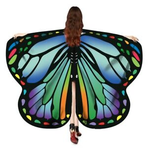 Fairy Butterfly Wings Fancy Dress Costume Party Book Day Hen Night Rainbow Adult