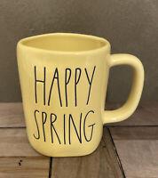 Rae Dunn - HAPPY SPRING LL - Yellow Ceramic Coffee Mug