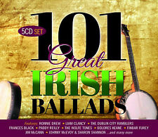 101 Great Irish Ballads 5 CD Set Various Artists 2017