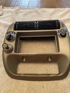 1999-2002 Ford Ranger Explorer Sport Trac Radio Dash Trim Bezel Black OEM