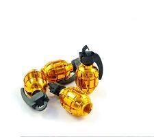 Roue de voiture gold Grenade Pneu Valve Poussière Capuchons couvre PNEU nouveau set de 4