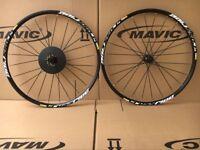 "Mavic Crossride Disc CR Mountain Bike 6-bolts 26"" Front & Rear Wheels Wheelset"