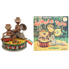 1950s JUNGLE TRIO in BOX by Linemar COMPLETE & WORKING See Video!