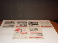 WEAVER SERVICE EQUIPMENT 12 PAGES PRINT ADS ORIGINAL MOTOR MAGAZINE 1947 -1958