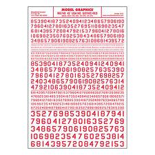45 USA gotico con numeri ROSSO asciutto TRASFERIRSI FOGLIO – WOODLAND SCENICS