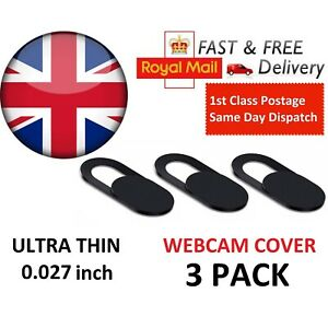Webcam cover 3 PACK Thin Camera Slider for Iphone Laptop Mobile tablet