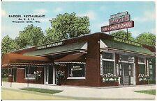 Badger Restaurant in Wisconsin Dells WI Roadside Postcard