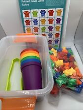 Rainbow Counting Bears Matching Sorting Cups Tongs Storage Case Educational Toys