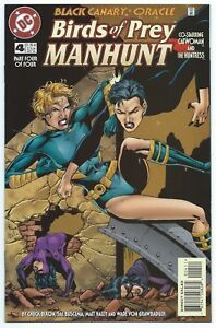 BIRDS OF PREY MANHUNT #4 DC 1996 BLACK CANARY ORACLE HUNTRESS & CATWOMAN B/O