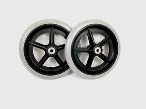 2x Wheelchair Front Castor Wheels 7, 3/4 inch 195mm 8mm Bearings