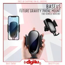 Baseus Glass Hybrid Mobile Phone Mount Car Holder Air Vent iPhone 7 8 11 pro Max
